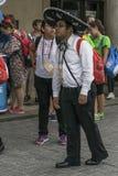 International pilgrims in Krakow Royalty Free Stock Photography