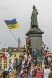 International pilgrims in Krakow Royalty Free Stock Images