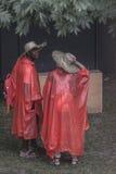 International pilgrims in Krakow Royalty Free Stock Image