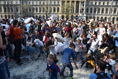 International Pillow Fight Day Bucharest 2017 Royalty Free Stock Image