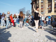 International pillow fight day bucharest 2016 Royalty Free Stock Photography
