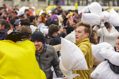 International pillow fight day Royalty Free Stock Photography