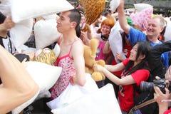 Hong Kong Intl Pillow Fight 2013 Stock Photography