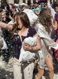 International pillow fight Royalty Free Stock Photography