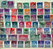 International Postage Stamps Royalty Free Stock Photography