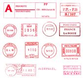 International postal stamps Stock Photography