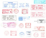 International postmarks Stock Images