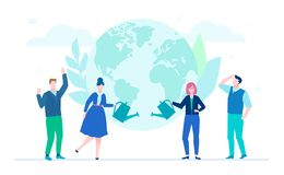 International project - flat design style illustration Stock Illustration