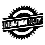 International Quality rubber stamp Stock Photo