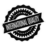 International Quality rubber stamp Royalty Free Stock Images