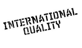 International Quality rubber stamp Royalty Free Stock Photography
