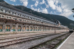 International Railway Station Canfranc (Huesca, Spain). Located in a valley in the Pyrenees Royalty Free Stock Photos
