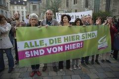 International Refugee Day-European Umbrella March Stock Photos
