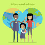 International Relations Flat Design Vector Concept Stock Image