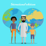 International Relations Flat Design Vector Concept Stock Photos