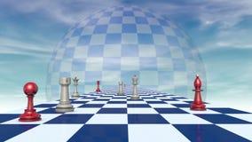 International relationships (chess metaphor). stock video footage