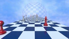 International relationships (chess metaphor). stock video