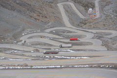International road with many switchbacks between Stock Photography