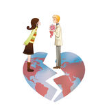 International Romance Broken World Heart Stock Images