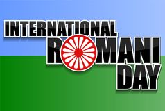 International Romani day background royalty free illustration