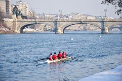 International Rowing Regatta in Turin Royalty Free Stock Photo