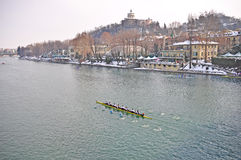 International Rowing Regatta in Turin Royalty Free Stock Photo