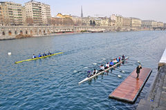 International Rowing Regatta in Turin Royalty Free Stock Photos
