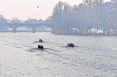 International Rowing Regatta in Turin Stock Photos