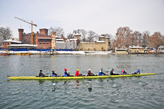 International Rowing Regatta in Turin Stock Images