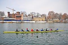 International Rowing Regatta in Turin Stock Images