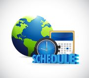 International schedule and calendar. Stock Images