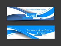 The International School Banner Template Royalty Free Stock Photos