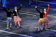 The International Scottish Highland Dance Team at the Red Square Stock Photography