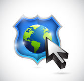 International security protection concept Stock Photography