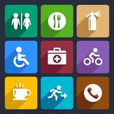 International Service Signs Flat Icons Set 39 Stock Image