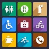 International Service Signs Flat Icons Set 39 Stock Image