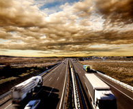 International shipment and highway Royalty Free Stock Photo