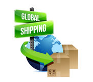 International shipping concept illustration Stock Photos