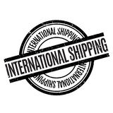 International Shipping rubber stamp Stock Images