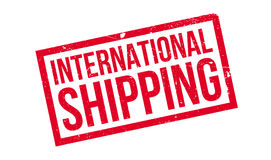 International Shipping rubber stamp Stock Image