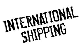 International Shipping rubber stamp. Grunge design with dust scratches. Effects can be easily removed for a clean, crisp look. Color is easily changed Royalty Free Stock Images