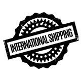 International Shipping rubber stamp. Grunge design with dust scratches. Effects can be easily removed for a clean, crisp look. Color is easily changed Royalty Free Stock Photos