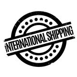 International Shipping rubber stamp. Grunge design with dust scratches. Effects can be easily removed for a clean, crisp look. Color is easily changed Royalty Free Stock Image