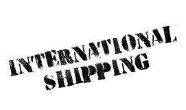 International Shipping rubber stamp. Grunge design with dust scratches. Effects can be easily removed for a clean, crisp look. Color is easily changed Stock Photos