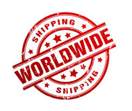 International shipping rubber stamp illustration. Isolated on white background Stock Images