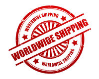 International shipping rubber stamp illustration. Isolated on white background Stock Photography