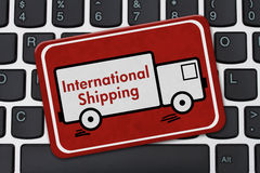 International Shipping Sign Royalty Free Stock Images