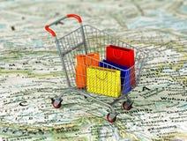 International shopping. Royalty Free Stock Photos