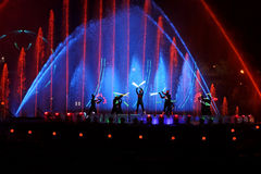 Free International Show Circle Of Light In Moscow Stock Images - 45757694