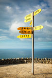 International signpost, Cape Reinga Stock Photos